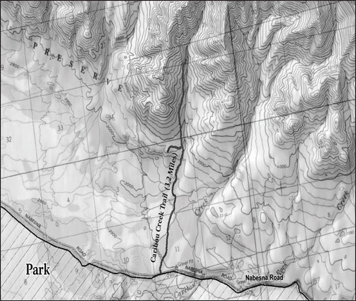 Wrangell-St. Elias National Park and Preserve (Nabesna Area - Caribou Creek Trail)