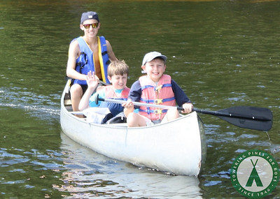 Canoe trip and cabin activities