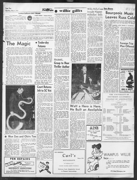 Daily Trojan, Vol. 39, No. 131, May 03, 1948