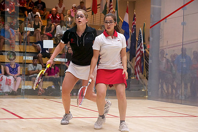 2011-07-22 4th Round: Nouran El Torky (Egypt) and Tesni Evans (Wales)