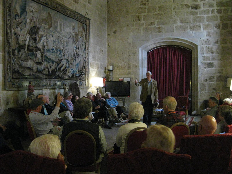 Lecture by John Fleming at the Palacio de Burgos - Johanna Frymoyer *12