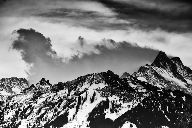 Wolkenfahne am Schreckhorn   Banner cloud at the Schreckhorn