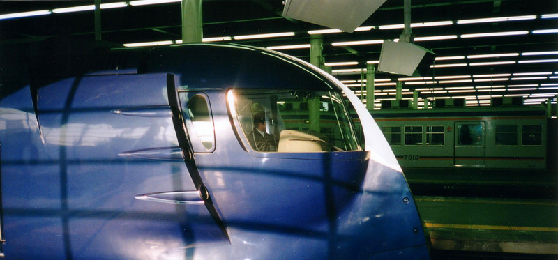 profile of the train from a Buck Rogers serial - Osaka. photo taken in 1997