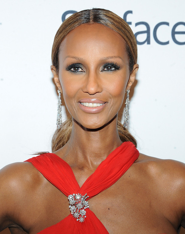 . Model Iman attends the amfAR Inspiration Gala at the The Plaza Hotel on Thursday, June 13, 2013 in New York. (Photo by Brad Barketv/Invision/AP)