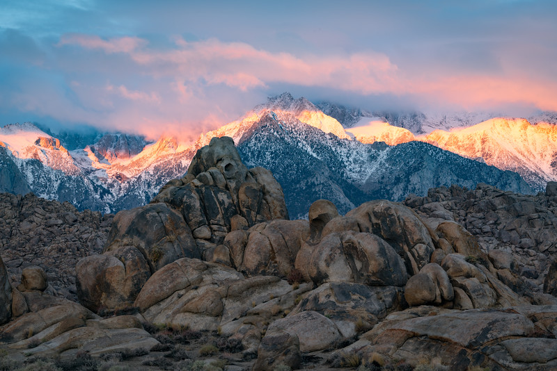 First Light on Eastern Sierra Range