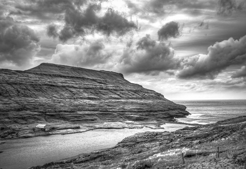 Faroe Coast 25   Black and White Photography by Wayne Heim