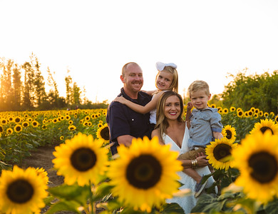 Smrdel Family in the sunflowers