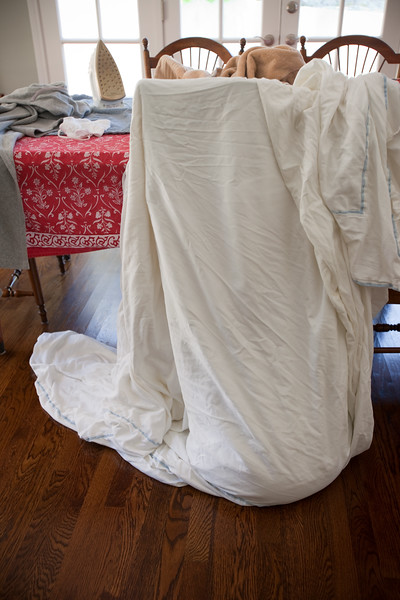 JUNE - As I walk near the dining room, I hear a familiar sound from under the blanket