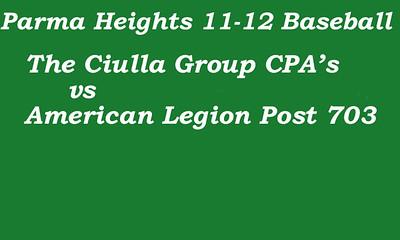 170715 Parma Heights Boy's 11-12 Baseball Game 3