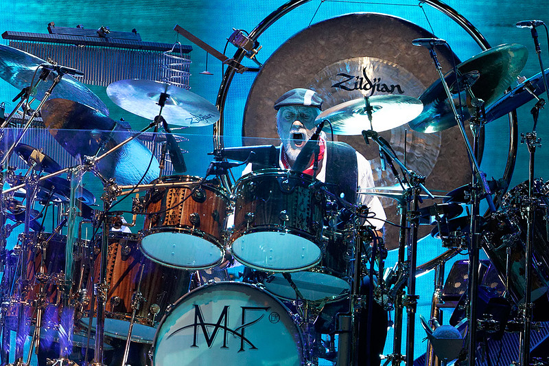 . Mick Fleetwood plays drums on stage with Fleetwood Mac on Wednesday, Oct. 22, 2014, at The Palace of Auburn Hills. Photo by Ken Settle-Special to The Oakland Press