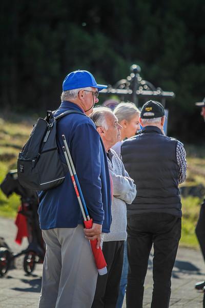 Skjálfboðaliði.  Íslandsmót í golfi 2019 - Grafarholt 2. keppnisdagur Mynd: seth@golf.is