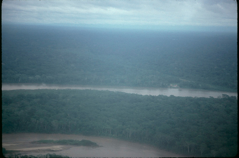 Cliff, Alissa, and Ari fly on hired plane from Peruvian air force into Amazon.
