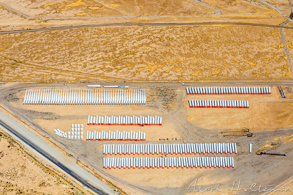 Wind Turbine Assembly in Mojave