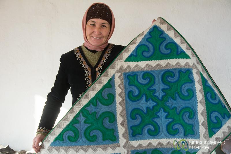 Kyrgyz Shyrdak at Golden Thimble - Bakonbaevo, Kyrgyzstan