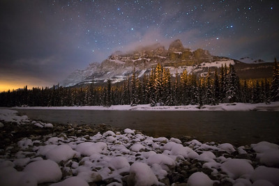 """Frigid Fortress"" V  Castle Mountain, Banff National Park."