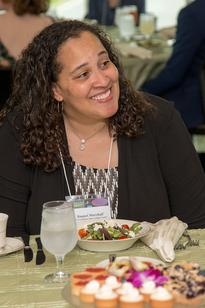 "Raquel Marshall (NASA/GSFC Education Office) -- An award luncheon, ""Dr. John Mather Nobel Scholars Program Award"", as part of the National Space Grant Foundation. College Park Aviation Museum, College Park, MD, August 3, 2018."