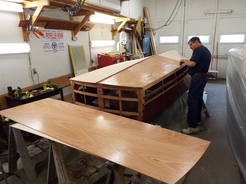 Epoxy being installed on the port rear second layer.
