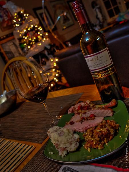 Christmas Dinner .... Duck ...mmm!