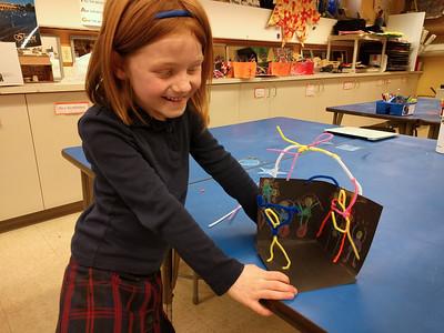 Kindergarten Alexander Calder-inspired Circus Sculptures