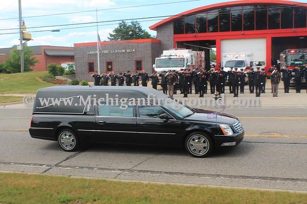 6/21/17 - Lansing Fire Department Captain Chris Ericks Funeral Procession