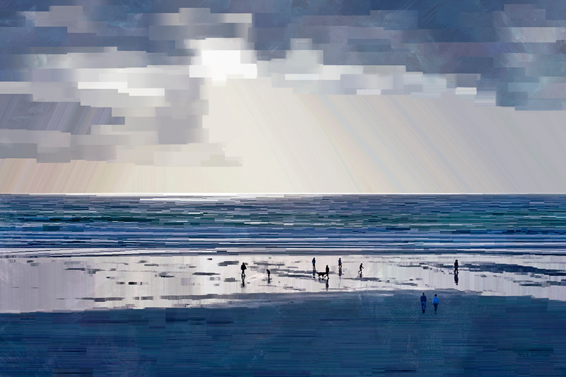 Oregon Beach - Digital Painting