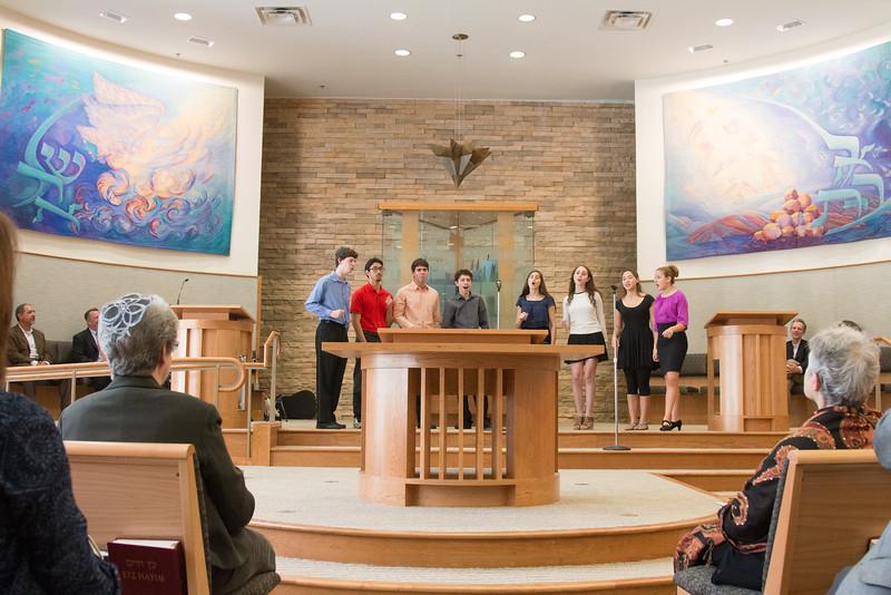 "Marak Hayom performed two songs -- Rededication Ceremony of Congregation Beth El ""Bender Sanctuary"", Sept 14, 2014, following renovation."