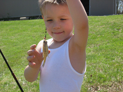 Owen's first fish!