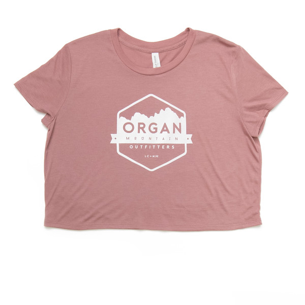 Organ Mountain Outfitters - Outdoor Apparel - Womens T-Shirt - Classic Crop Top - Mauve.jpg