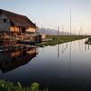Serene Scene - Inle Lake Farm House by Martin Ziegler