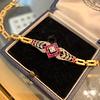 .86ctw Art Deco Ruby and Diamond Link Bracelet 27