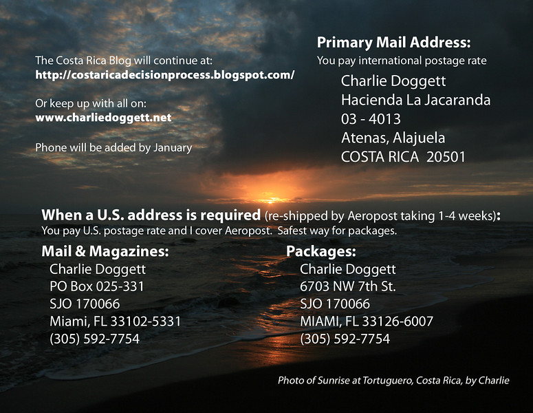 2014 Christmas Card printed & mailed as post card - Side 2