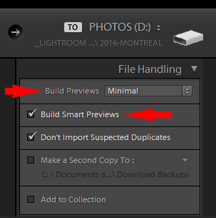 Merging Lightroom Catalogs - Create Smart Previews