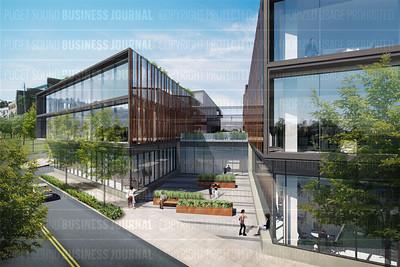 Artist rendering of the NorthEdge development in Seattle, Washington
