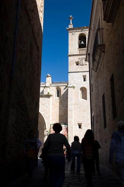 Narrow street, Caceres, Spain