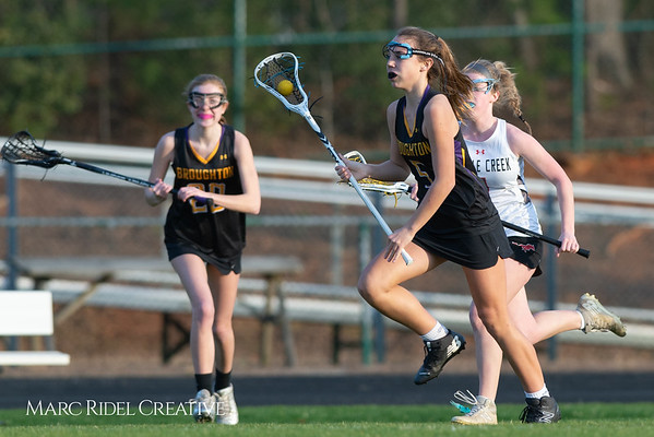 Broughton Lady Caps lacrosse at Middle Creek. February 26, 2019. D4S_1800