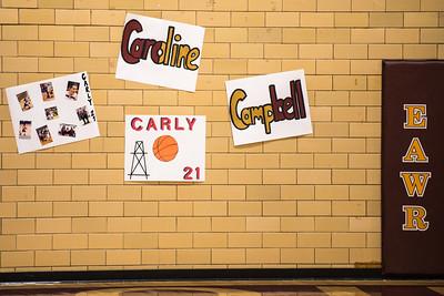 Carly Basketball Senior Night - Feb 2, 2017