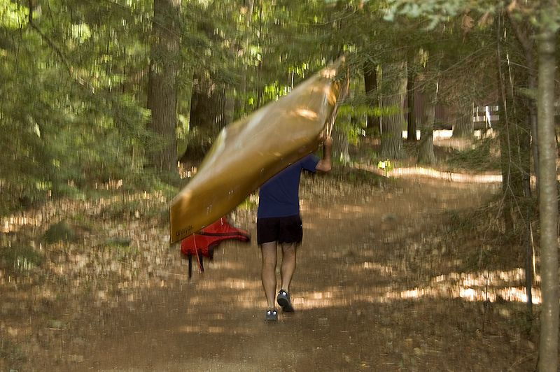 Aims starts the Canoe-O with a portage   (Sep 11, 2005, 12:33pm)