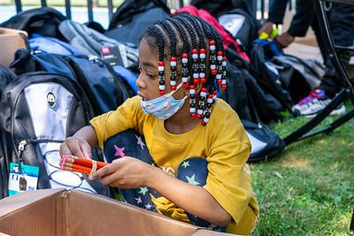Flint St. Book Bag Give Away