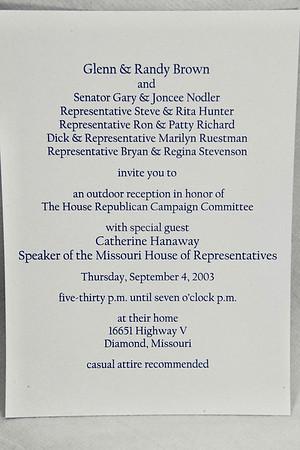 9-4-2003 MO Speaker Catherine Hanaway @ Brown's
