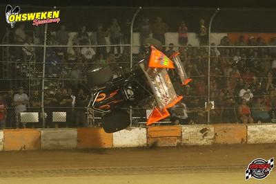 Glenn Styres Wreck- Osweken Speedway July 25th