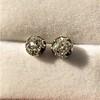 1.73ctw Georgian Peruzzi Cut Diamond Collet Stud Earrings 7