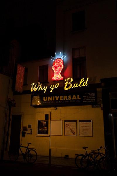 Neon ad, Dublin, Ireland