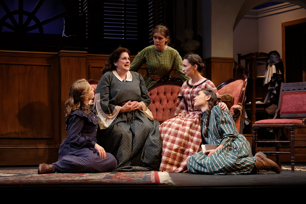 ". Submitted photo � Oberlin Summer Theater Festival <br> The cast of ""Little Women\"" are shown in dress rehearsal for the opening of the 2018 Oberlin Summer Theater Festival. The festival runs through Aug. 5 with performances of \""Romeo and Juliet\"" and \""Picnic\"" starting in July."