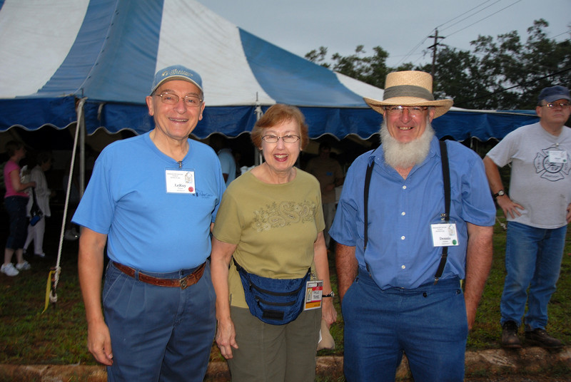 LeRoy and Phyllis Troyer with their Amish friend. cl