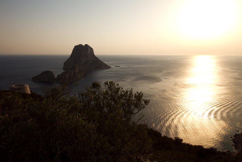 Es Vedra Island. A small protected island off the Ibiza coast said to be an energy point.