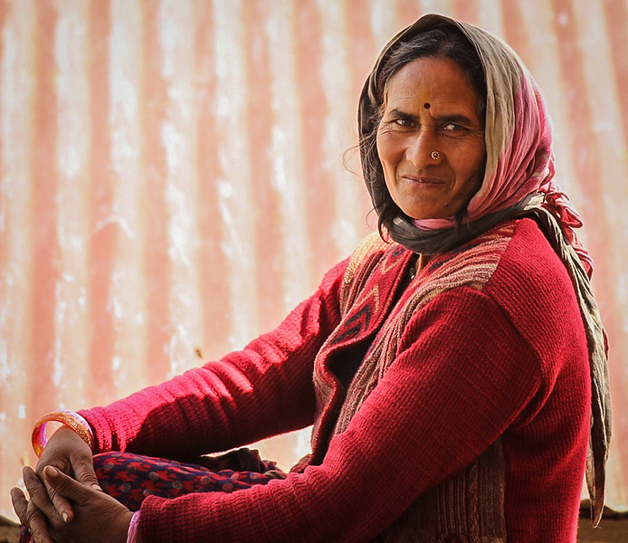 Himalayan Woman At Rest