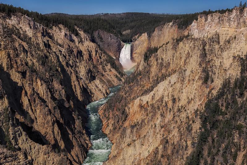 Grand Canyon of the Yellowstone, Yellowstone National Park. Wyoming, USA.