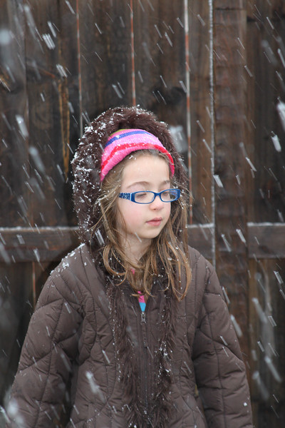Not to sure after the first snowball hit her.