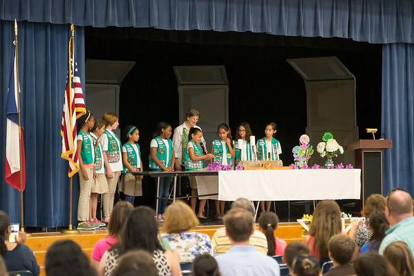 Girl Scouts Bridge Ceremony 2015