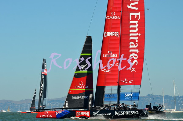 AC 34 finals Sun. 9/15/13 race #9 won by Oracle and 10 by ETNZ